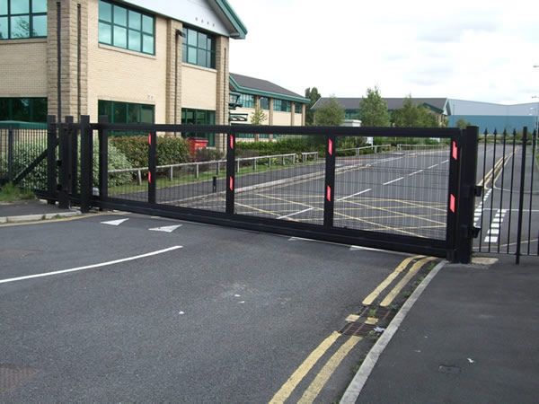 black electronic gate