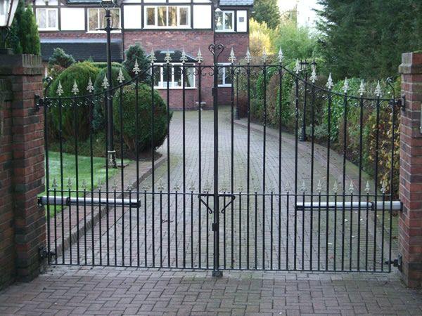 black driveway gates
